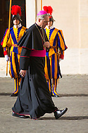 Vatican, 09-03-2015<br /> <br /> Archbishop Georg Ganswein at the Cortile di san Damaso<br /> <br /> Photo: Bernard Ruebsamen/Royalportraits Europe