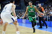 Real Madrid's player Gustavo Ayon and Panathinaikos's player James Feldeine during match of Turkish Airlines Euroleague at Barclaycard Center in Madrid. November 16, Spain. 2016. (ALTERPHOTOS/BorjaB.Hojas)