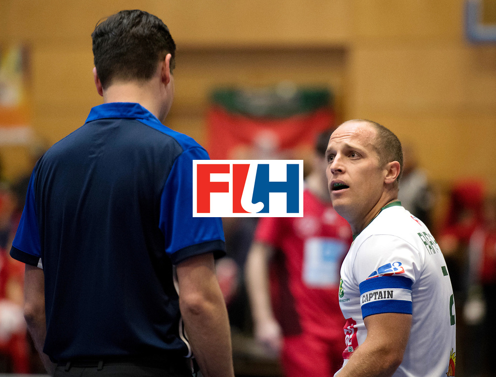 BERLIN - Indoor Hockey World Cup<br /> Kazakhstan - Poland<br /> foto: FAIRWEATHER Matthew.<br /> WORLDSPORTPICS COPYRIGHT FRANK UIJLENBROEK