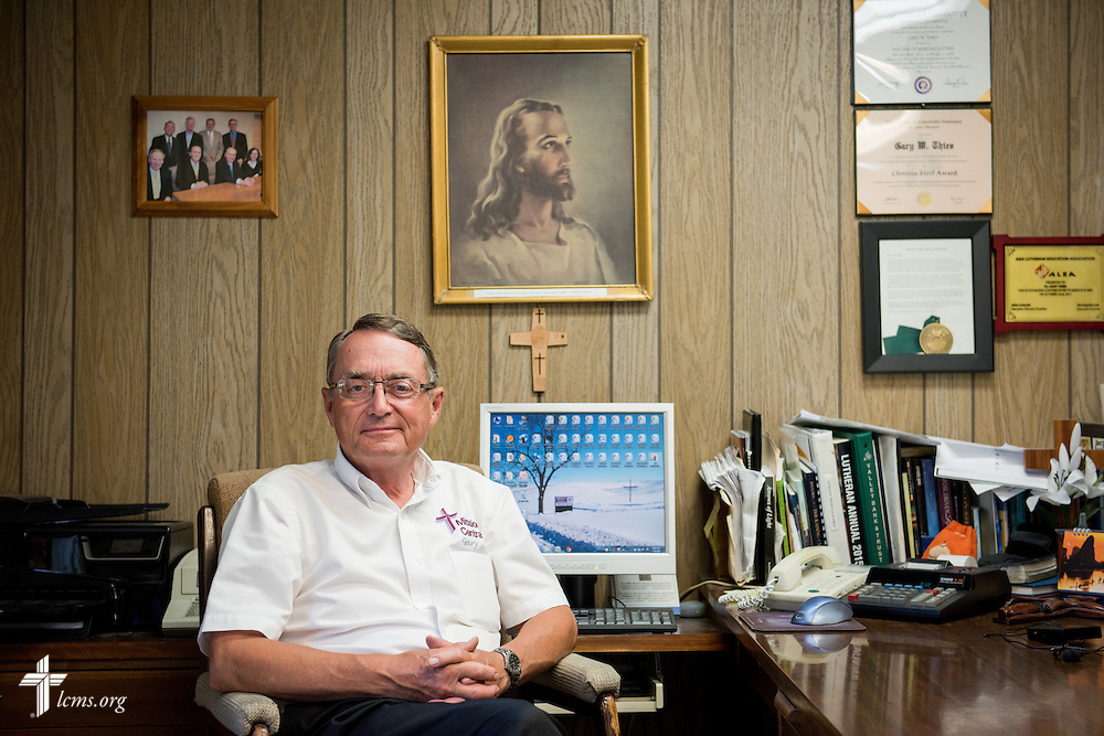 A portrait of Gary Thies in his office at Mission Central on Sunday, July 19, 2015, in Mapleton, Iowa. LCMS Communications/Erik M. Lunsford