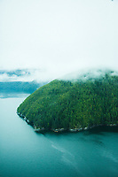 Aerial photos of coastal British Columbia, Canada.