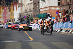Boels Dolmans lead by Chantal Blaak with 600m to go at UCI Road World Championships Women's Team Time Trial 2017 a 42.5 km team time trial in Bergen, Norway on September 17, 2017. (Photo by Sean Robinson/Velofocus)