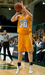 December 22, 2009; San Francisco, CA, USA;  Tennessee Lady Volunteers guard Sydney Smallbone (20) shoots against the San Francisco Dons during the second half at War Memorial Gym.  Tennessee defeated San Francisco 89-34.