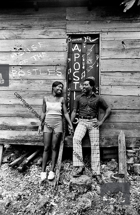 Junior Murvin and wife at home in Port Antonio Jamaica 1973