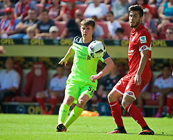 MAINZ, GERMANY - Sunday, August 7, 2016: Liverpool's Ben Woodburn in action against FSV Mainz 05 during a pre-season friendly match at the Opel Arena. (Pic by David Rawcliffe/Propaganda)