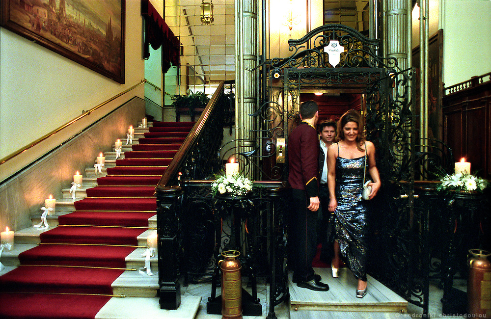 """""""Pera Palas"""" one of the oldest Hotels in Pera that had some glorious times as one of the Hotels hosting passengers of the """"Orient Express"""", is still one of the most luxurious hotels in the area. .ISTANBUL, Androniki Christodoulou/WorldPictureNews"""