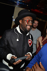 WILL.I.AM at a party hosted by fashion website Farfetch to launch i.am + EPs headphones hosted by Will.i.am at Loulou's, 5 Hertford Street, London on 16th September 2016.