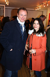 GARY KEMP and his wife LAUREN at a private view of artist Natasha Law's work entitled 'Hold' held at Eleven, 11 Eccleston Street, London SW1 on 12th January 2006.<br /><br />NON EXCLUSIVE - WORLD RIGHTS
