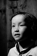 Kaili, Guizhou, China, August 10th 2007: Portrait of a 6 year old Miao girl..Photo: Joseph Feil