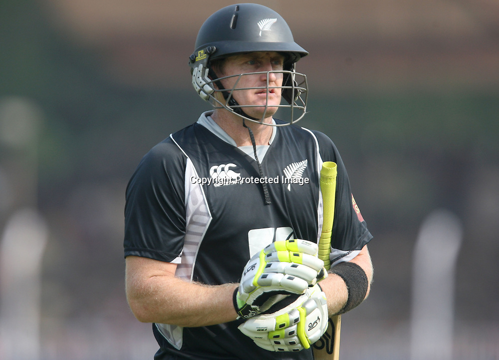 New Zealand batsman Scott Styris go back pavilion after dismiss during the 3rd ODI India vs New Zealand Played at Reliance Stadium, Vadodara<br /> 4 December 2010 (50-over match)