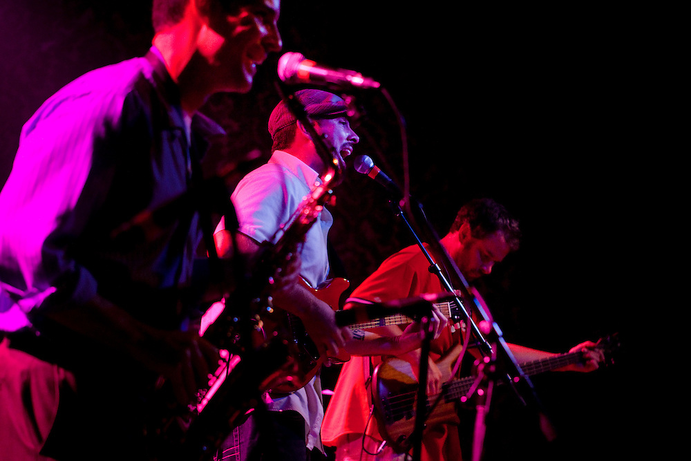 "El Grande, a local ""Groove Rock"" band, performs at Port City Music Hall in Portland Maine, Tuesday August 3, 2010."