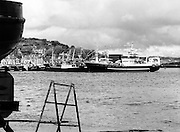 New IR&pound;6 million supertrawler Atlantic Challenge, flagship of the Irish fishing fleet, lies moored at Killybegs. The trawler will fish for non-quota stocks, such as blue whiting and horse mackerel, to lessen dependence on mackerel as quotas are low for the Irish fleet.<br />