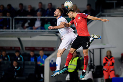 Andraž Šporar of Slovenia, Aleksandar Dragovic of Austria during the 2020 UEFA European Championships group G qualifying match between Slovenia and Austria at SRC Stozice on October 13, 2019 in Ljubljana, Slovenia. Photo by Sasa Pahic Szabo / Sportida