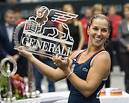 Dominika Cibulkova (SVK) wins the final of the WTA Generali Ladies Linz Open at TipsArena, Linz<br /> Picture by EXPA Pictures/Focus Images Ltd 07814482222<br /> 16/10/2016<br /> *** UK &amp; IRELAND ONLY ***<br /> <br /> EXPA-REI-161016-5028.jpg