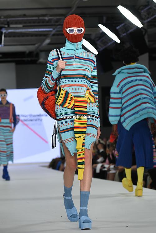 Designer Penny Gibbs at the Best of Graduate Fashion Week showcases at the Graduate Fashion Week 2018, June 6 2018 at Truman Brewery, London, UK.