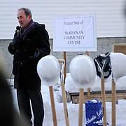 Canada, Edmonton. Feb/10/2013. McKernan Community League building renovation project. Ground breaking ceremony.