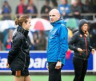 BILTHOVEN  - Hockey -  1e wedstrijd Play Offs dames. SCHC-Den Bosch (0-1). scheidsrechters Lisette Baljon Jorrit Maakal   COPYRIGHT KOEN SUYK