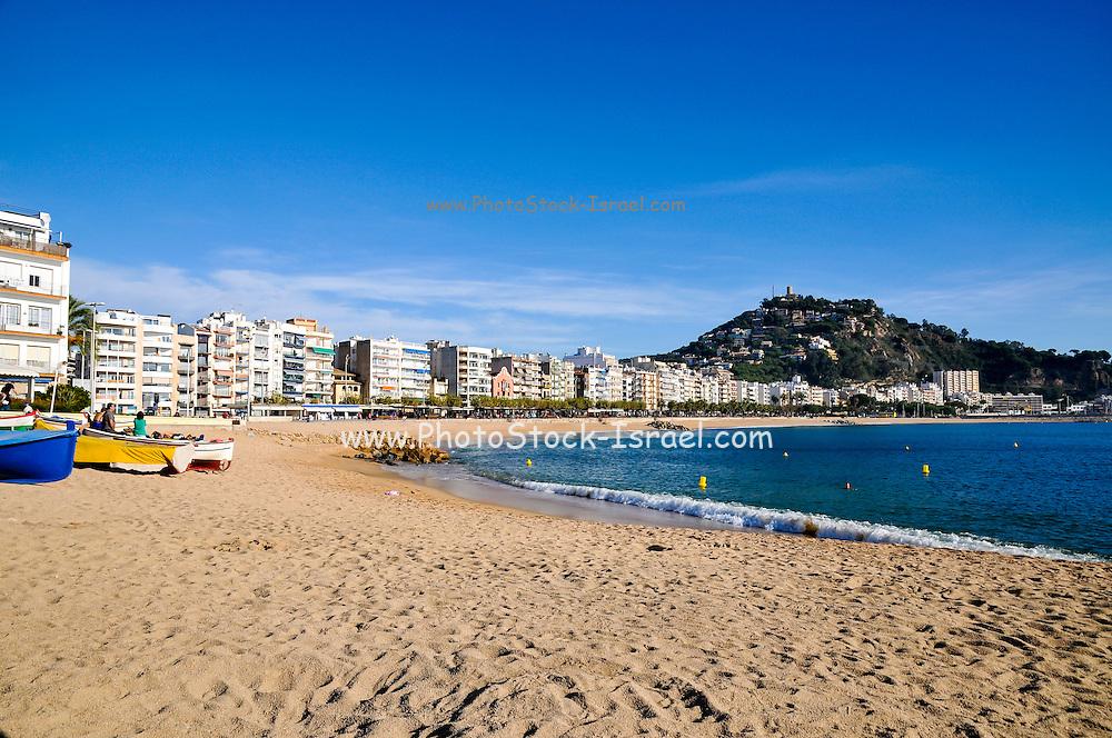 beachfront at Lloret de Mar, Costa Brava, Spain