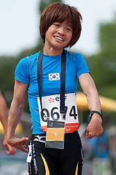 JEON Min Jae, KOR, 200m, T36, 2013 IPC Athletics World Championships, Lyon, France