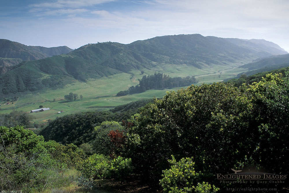 Looking east toward the Main Ranch and Central Valley, Santa Cruz Island, Channel Islands, California