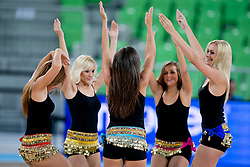 Cheerleaders during basketball match between National teams of Germany and Slovenia in Placement match for 5-9th place of U20 Men European Championship Slovenia 2012, on July 21, 2012 in SRC Stozice, Ljubljana, Slovenia. (Photo by Matic Klansek Velej / Sportida.com)
