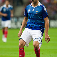 05 September 2009: French forward Andre-Pierre Gignac is seen during the World Cup 2010 qualifying football match France vs. Romania (1-1), on September 5, 2009 at the Stade de France stadium in Saint-Denis, near Paris, France.
