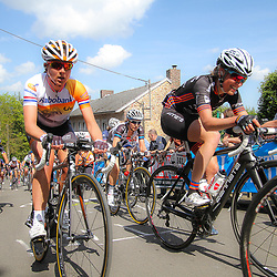 CYCLING, Huy (Belgium): The fourth race in de UCI womens worldcup Fleche Walonne, (141) SOfie de Vuyst and Annemiek van Vleuten