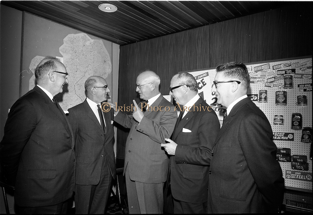 20/09/1967<br /> 09/20/1967<br /> 20 September 1967<br /> Spar International Conference at the South County Hotel, Dublin. At the conference were: Mr. Green; Mr O'Connell, Chairman SPAR (Ireland) Limited; Mr Holland, President, Spar International; Mr Daniels and Mr Sottfau.