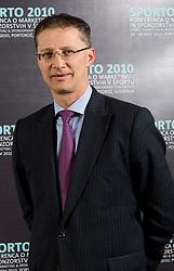 Dr. Igor Luksic, Minister of Education and Sport during Sporto  2010 - Sports marketing and sponsorship conference, on November 29, 2010 in Hotel Slovenija, Portoroz/Portorose, Slovenia. (Photo By Vid Ponikvar / Sportida.com)