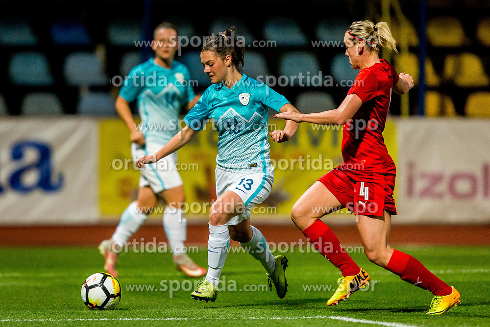 Zala Kustrin of Slovenia during football match between Slovenia and Czech Republic in Womens Qualifications for World Championship 2019, on October 20, 2017 in Stadion Domzale, Domzale, Slovenia. Photo by Ziga Zupan / Sportida