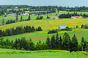 Countryside of farmland and rolling hills<br /> North Wiltshire<br /> Prince Edward Island <br /> Canada