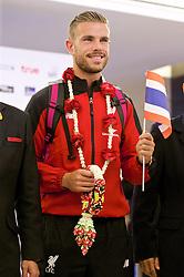 BANGKOK, THAILAND - Monday, July 13, 2015: Liverpool's captain Jordan Henderson at Bangkok's Suvarnabhumi Airport as the team arrive in Thailand for the start of the club's preseason tour. (Pic by David Rawcliffe/Propaganda)