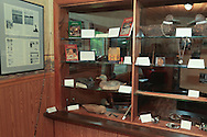 Hunting and fishing gear once owned and used by famous outdoor writer Gordon MacQuarrie and now on display at the Barnes Historical Museum in Bayfield County, Wisconsin.