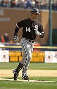 Apr 11, 2006; Detroit, MI, USA: Chicago White Sox first baseman Paul Konerko, Comerica Park.