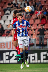 12-05-2018 NED: FC Utrecht - Heerenveen, Utrecht<br /> FC Utrecht win second match play off with 2-1 against Heerenveen and goes to the final play off / (L-R) Mark van der Maarel #2 of FC Utrecht score the 2-0, Daniel Hoegh #3 of SC Heerenveen
