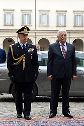 15.05.2015, Rom, ITA, der Palaestinensische Praesident Mahmoud Abbas auf Italien Besuch, im Bild der Palästinensische Präsident Mahmoud Abbas bei seinem Staatsbesuch in Italien // Palestinian President Mahmoud Abbas arrives to meet with Italian President Sergio Mattarella in Rome Abbas arrived in Rome for three days of meetings with Italian government institutions and the Vatican, Italy on 2015/05/15. EXPA Pictures © 2015, PhotoCredit: EXPA/ APAimages/ Thaer Ganaim<br /> <br /> *****ATTENTION - for AUT, GER, SUI, ITA, POL, CRO, SRB only*****