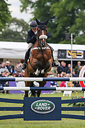 Mister Maccondy ridden by Polly Stockton in the Equi-Trek CCI-4* Show Jumping during the Bramham International Horse Trials 2019 at Bramham Park, Bramham, United Kingdom on 9 June 2019.