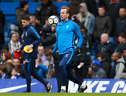 Tottenham Hotspur's Harry Kane warming up before the game