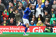Picture by Paul Chesterton/Focus Images Ltd.  07904 640267.07/04/12.Nikica Jelavic of Everton scores his sides 2nd goal and celebrates during the Barclays Premier League match at Carrow Road Stadium, Norwich.