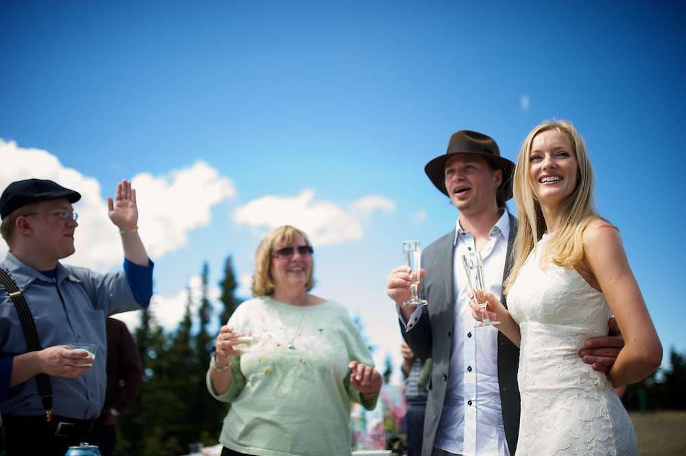 Alison Epsom and Brian Jolly Celebration Blessing at Crystal Mountain