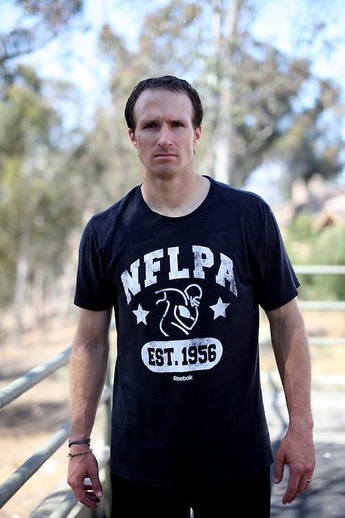 Drew Brees in San Diego CA on Tueesday, June 12, 2012.(Photo by Sandy Huffaker/Invision for AP)