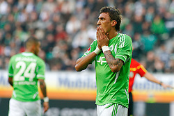 29.10.2011,Volkswagen Arena, Wolfsburg, GER, 1.FBL, VFL Wolfsburg vs Hertha BSC Berlin, im Bild  Mario Mandzukic (Wolfsburg #18) .// during the match from GER, 1.FBL,VFL Wolfsburg vs Hertha BSC Berlin  on 2011/10/29, Volkswagen Arena, Wolfsburg, Germany..EXPA Pictures © 2011, PhotoCredit: EXPA/ nph/  Schrader       ****** out of GER / CRO  / BEL ******