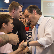 TOWSON, MD- APR18: Presidential candidateTed Cruz greets supporters at a rally in Townson, Maryland, April 18, 2016, at the American Legion Post 22. (Photo by Evelyn Hockstein/For The Washington Post)