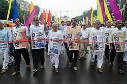 September 1, 2017 - Kolkata, West Bengal, India - Left parties organized a massive anti-imperialist peace rally on 1st September 2017 in Kolkata, West Bengal, India. (Credit Image: © Avijit Ghosh/Pacific Press via ZUMA Wire)