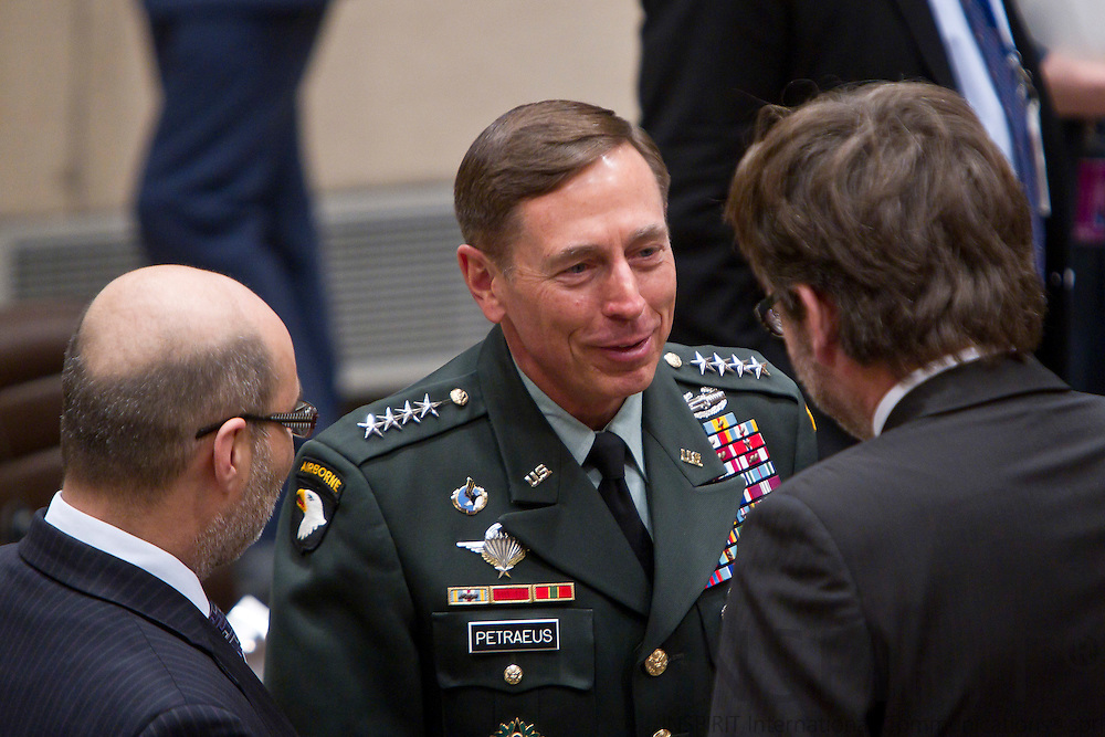 General David Petraeus, Commander ISAF,  at the beginning of the NATO Defence Ministers with non-NATO ISAF Contributing Nations in Brussels Friday 11 March 2011. PHOTO: ERIK LUNTANG / INSPIRIT Photo.