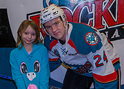 KELOWNA, CANADA - DECEMBER 30:  Home Hardware winner with Kyle Topping #24 of the Kelowna Rockets at the Kelowna Rockets game on December 30, 2017 at Prospera Place in Kelowna, British Columbia, Canada.  (Photo By Cindy Rogers/Nyasa Photography,  *** Local Caption ***