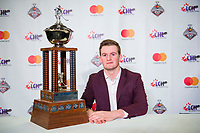 REGINA, SK - MAY 26: Rookie of the Year, Alexis Lafreniere of Rimouski Oceanic at the Brandt Centre on May 26, 2018 in Regina, Canada. (Photo by Marissa Baecker/CHL Images)