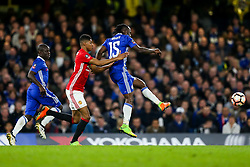 Victor Moses of Chelsea is challenged by Marcus Rashford of Manchester United - Rogan Thomson/JMP - 13/03/2017 - FOOTBALL - Stamford Bridge - London, England - Chelsea v Manchester United - FA Cup Quarter Final..
