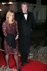 © licensed to London News Pictures. London, UK 06/12/2012. Jeremy Clarkson (right) attending The Sun Military Awards at Imperial War Museum with his wife. Photo credit: Tolga Akmen/LNP