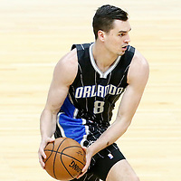 11 January 2017: Orlando Magic guard Mario Hezonja (8) looks to pass the ball during the LA Clippers 105-96 victory over the Orlando Magic, at the Staples Center, Los Angeles, California, USA.